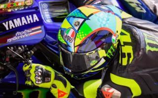 罗西新款头盔亮相,波普风日月花!