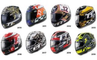 比赛延期头盔先至 Arai发布2020款曼岛TT限量版头盔