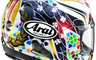 日本头盔品牌 Arai 新图案头盔RX-7X Nakagami GP2