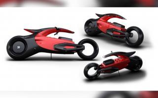 超跑厂家玩跨界 布加迪Audacieux摩托车设计图亮相