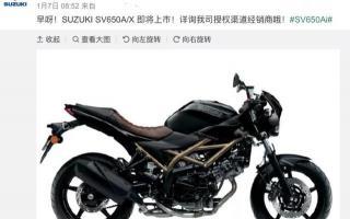 铃木SV650国内预定,90度V型双缸,配置参数详解,预测10万以内