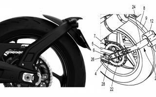 米其林摩托车倒档专利,后挡泥板辅助电动马达