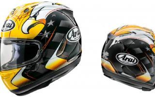 Arai推出「RX-7X」Kenny Roberts复刻彩绘头盔
