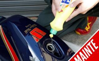 简单就能清除摩托车油箱铁锈的小密技