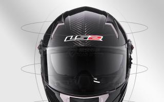 LS2碳纤维摩托车头盔超轻双镜片气囊全盔机车卡丁防雾蓝牙FF396