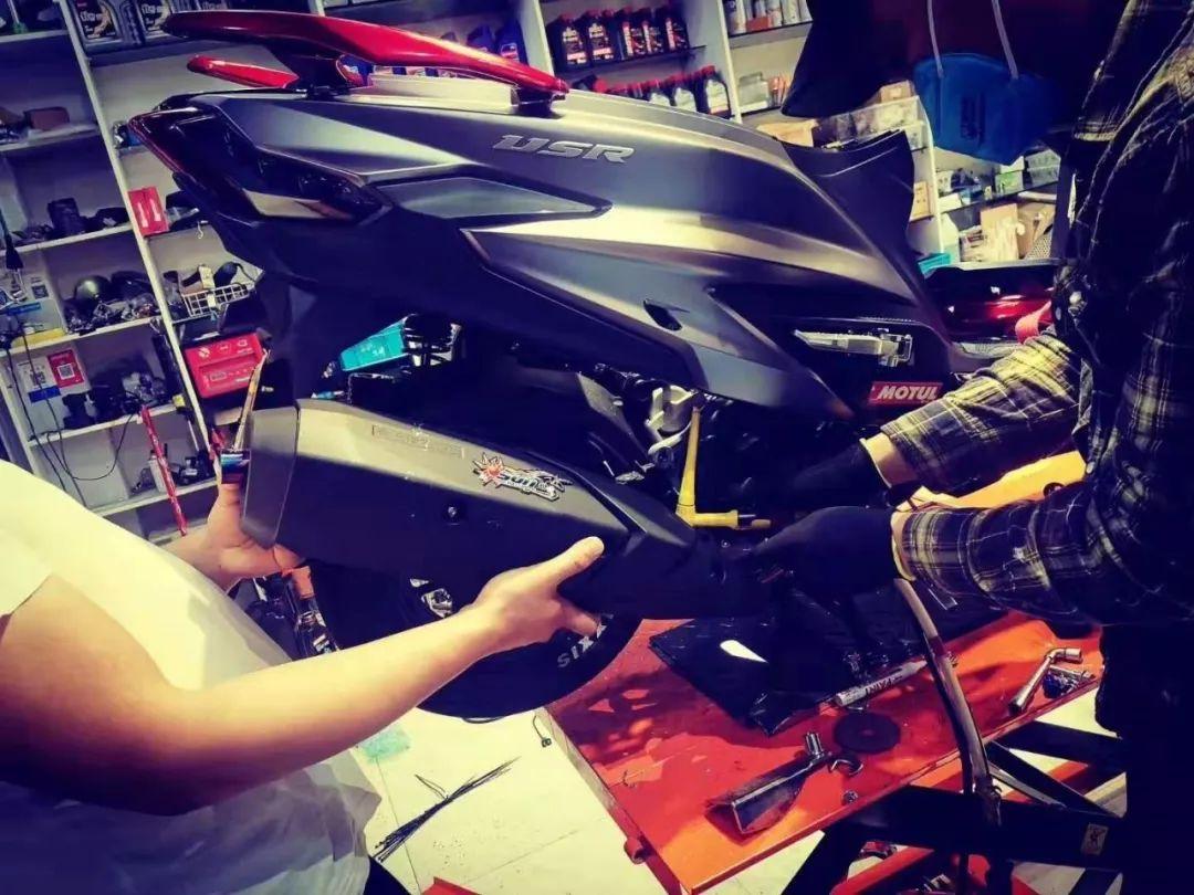 让小踏板不一样,USR125的改装案例分享-第7张图片-春风行摩托车之家