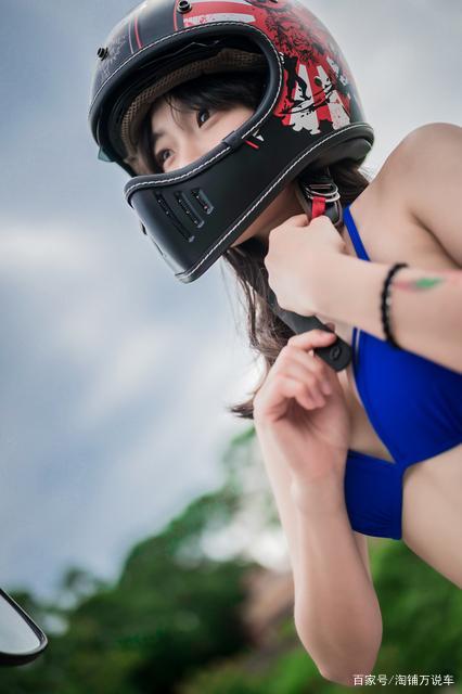 台湾美女测评 M2R MX-2 SV复古头盔-第12张图片-春风行摩托车之家