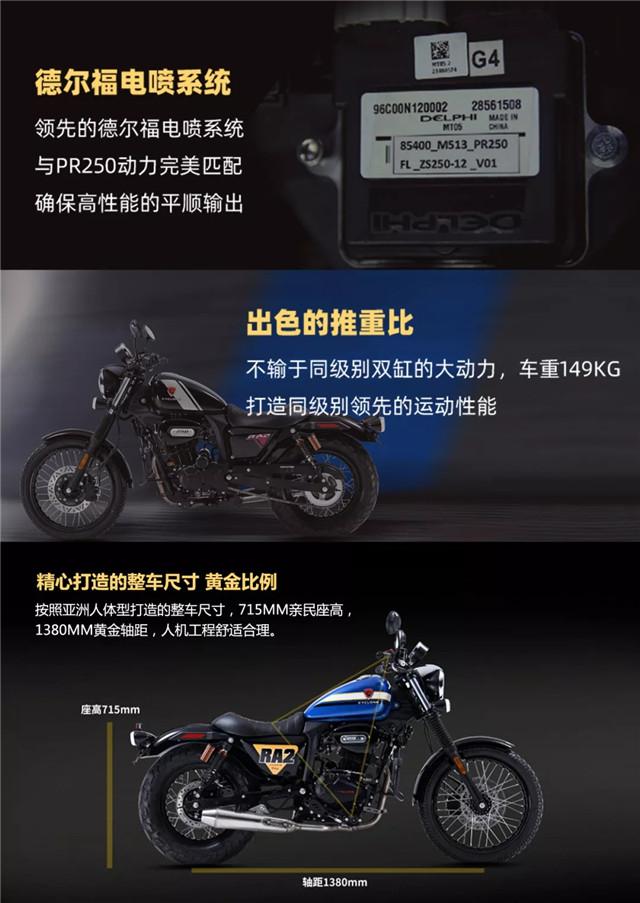 赛科龙复古运动巡航RA2 轻松解锁玩车新姿势-第12张图片-春风行摩托车之家