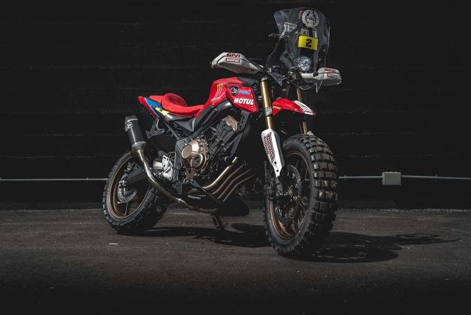 致敬达卡拉力赛!HONDA「CB650R」改装款-第9张图片-春风行摩托车之家