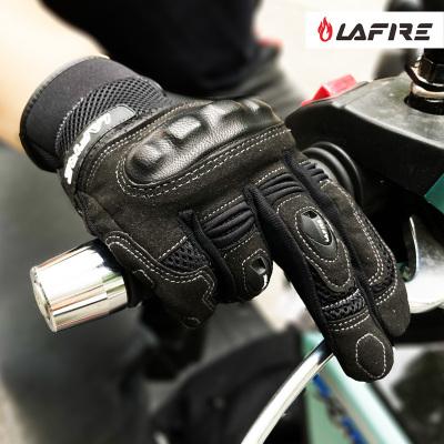 lafire春秋摩托车手套~网眼~防摔~透气~触屏