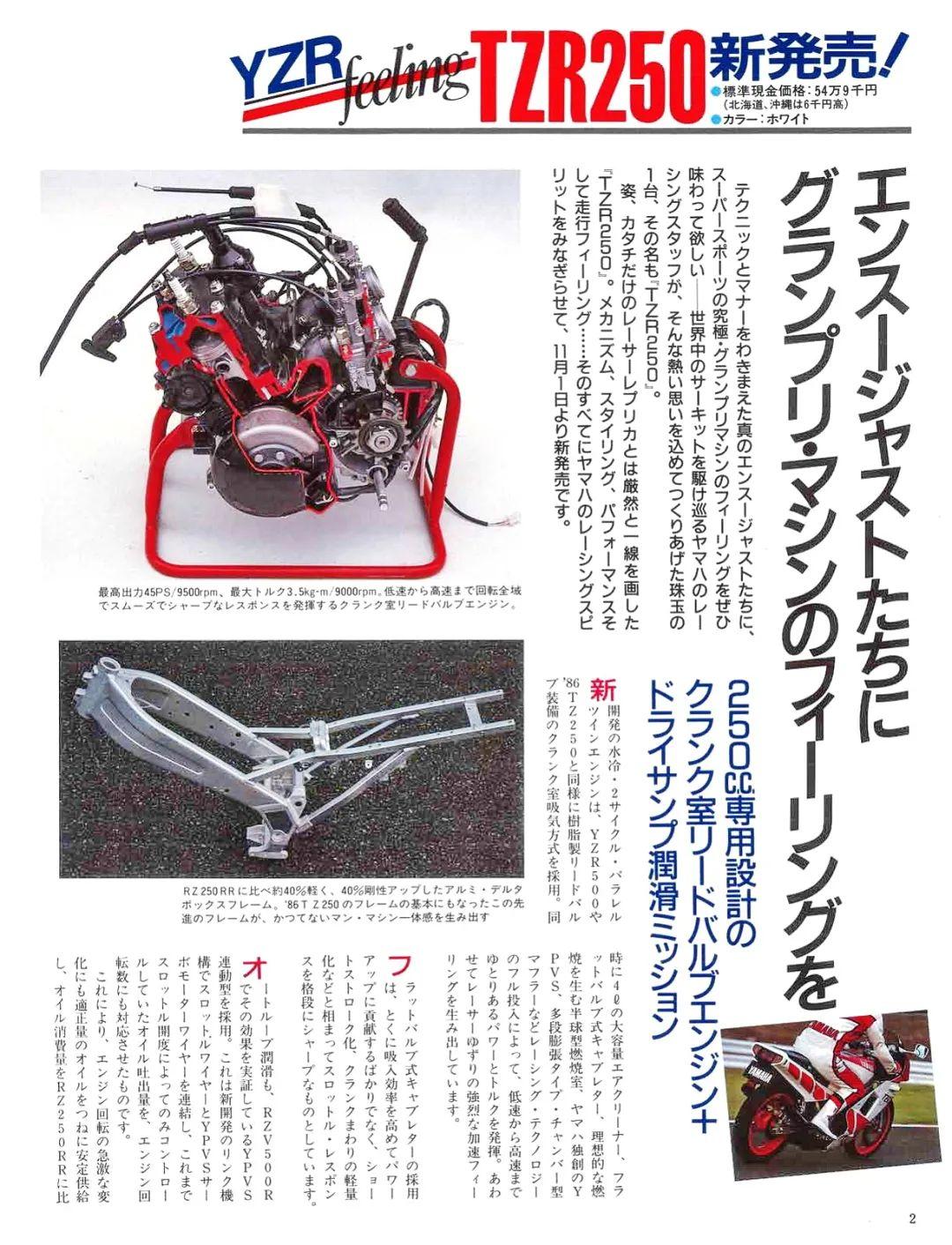 车型历史图库:雅马哈Yamaha TZR250 第一代-第6张图片-春风行摩托车之家
