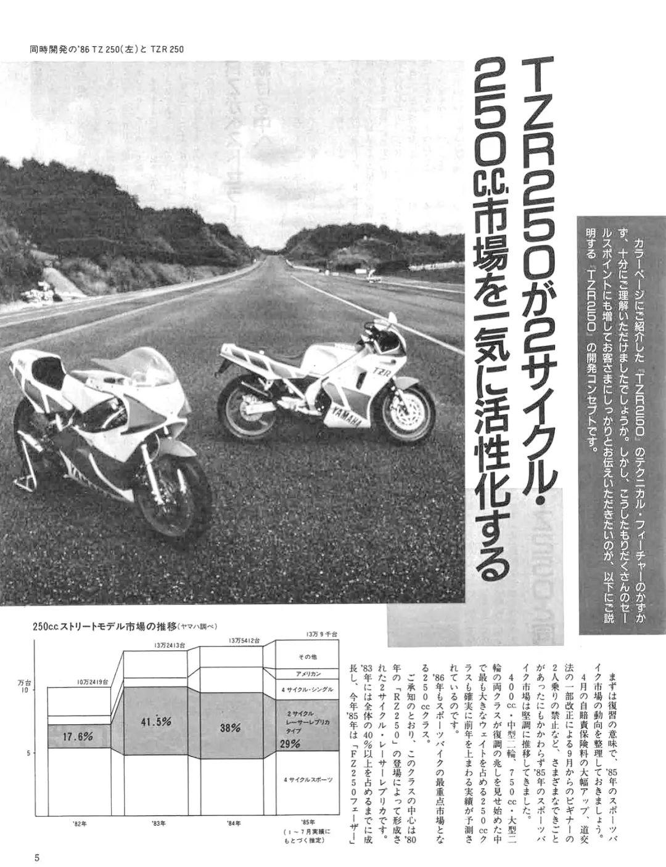 车型历史图库:雅马哈Yamaha TZR250 第一代-第9张图片-春风行摩托车之家