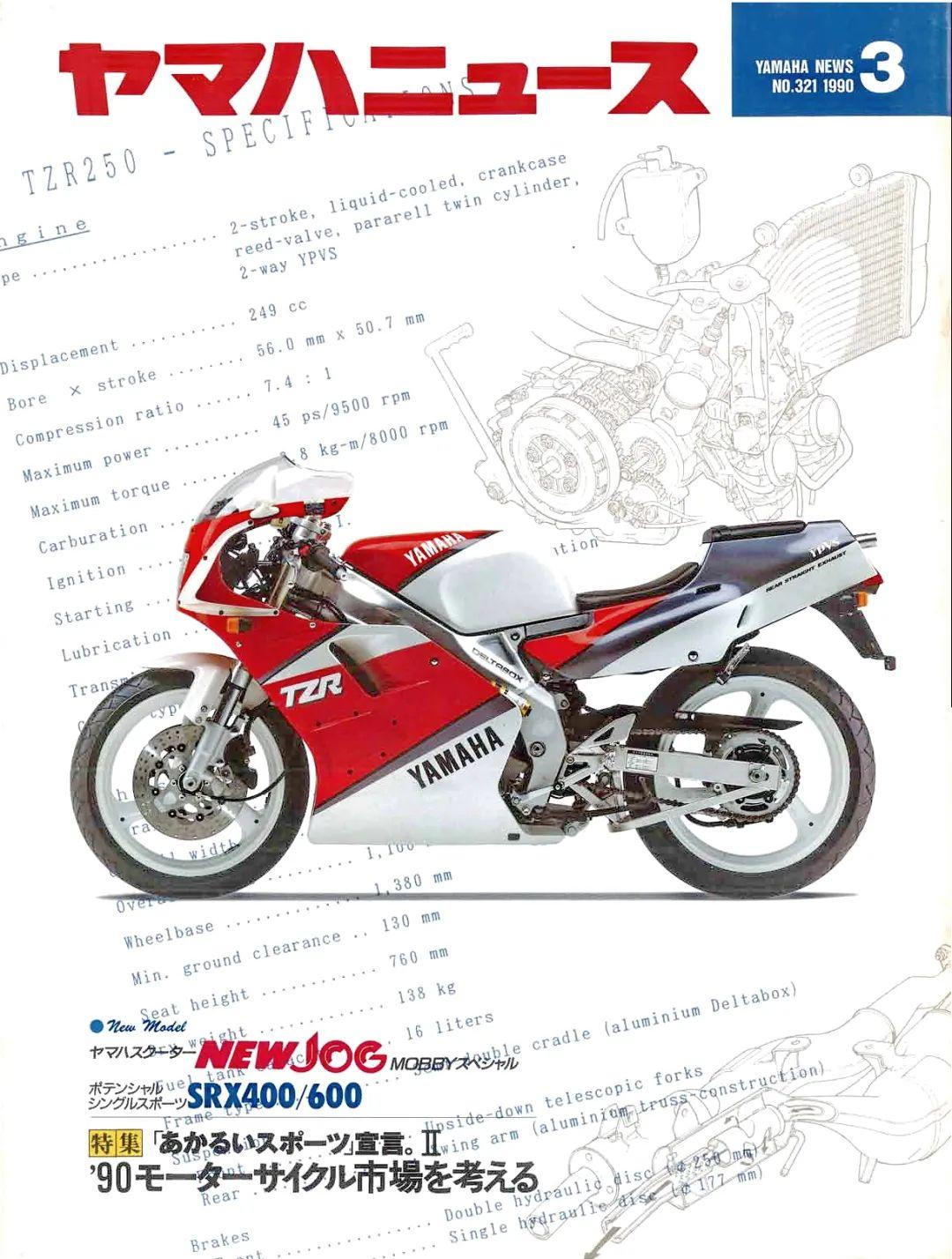 车型历史图库:雅马哈Yamaha TZR250 第二代-第10张图片-春风行摩托车之家