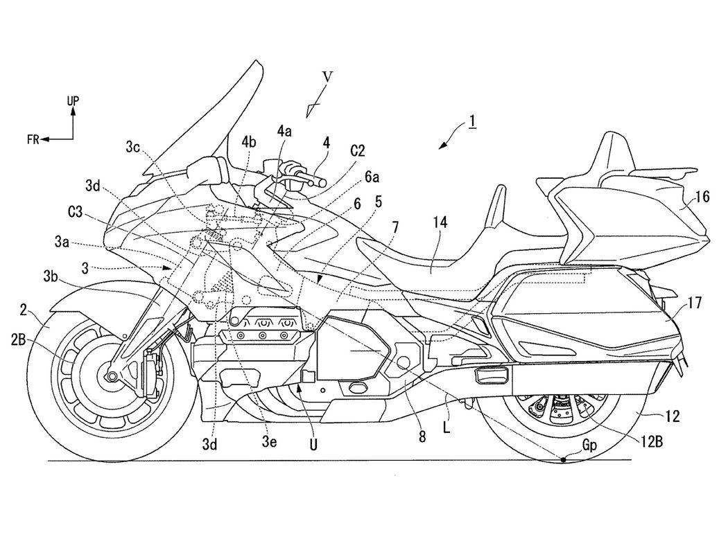 【原创翻译】本田HONDA新专利曝光,正在开发摩托车转向辅助系统,首款车型或将是本田金翼。-第1张图片-春风行摩托车之家