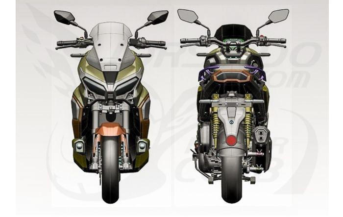 大踏板也能越野?疑似本田HONDA「ADV350」设计草图曝光-第5张图片-春风行摩托车之家