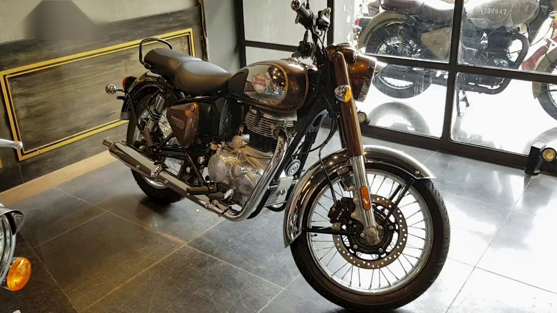 2021款皇家恩菲尔德Classic 350(铬青铜)实拍